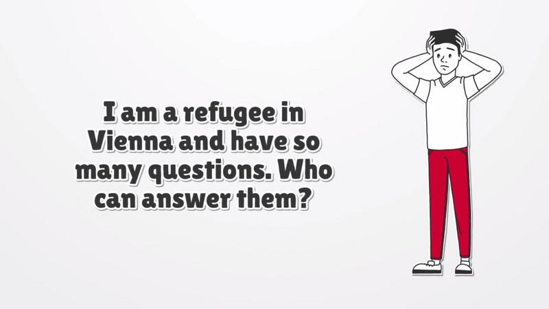 مقطع فيديو يظهر فيه لاجئ مع علامات استفهام