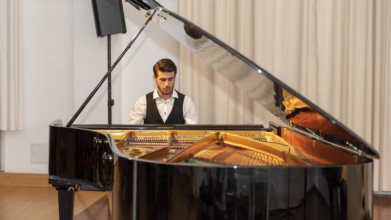 Klavierspieler beim Konzert