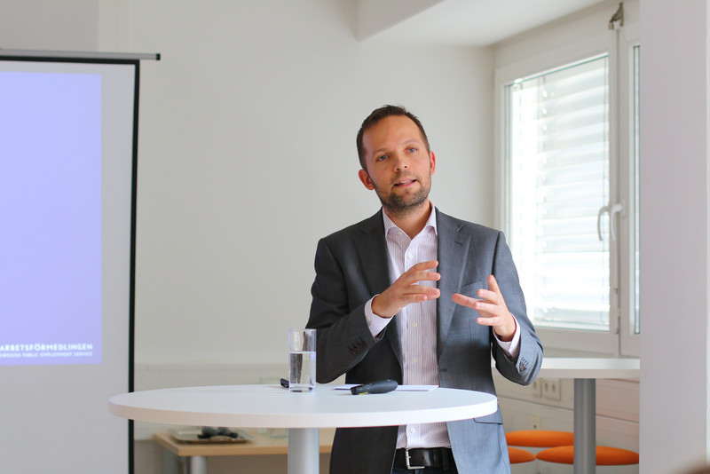 Joel Hellstrand beim CORE Future Talk