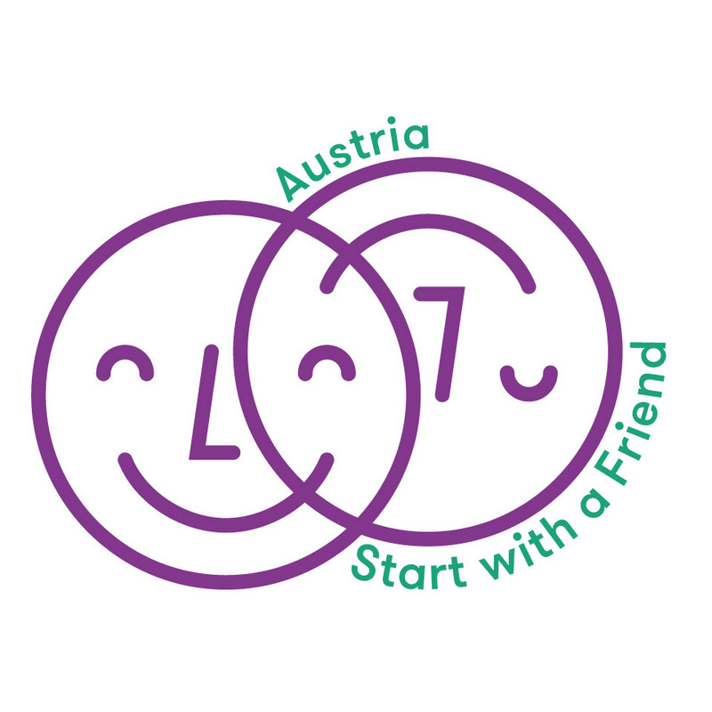 Logo Start with a friend Austria